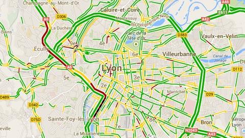 widget trafic routier